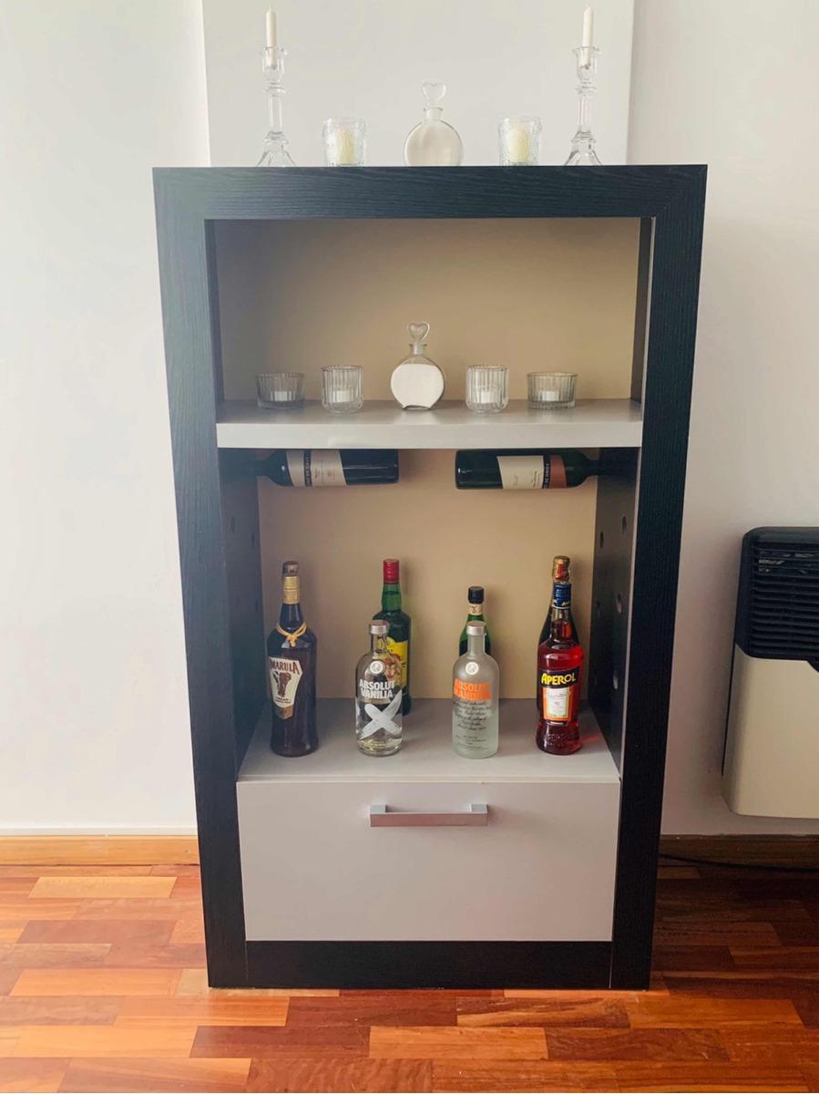 Mueble Para Living Comedor Con Estantes Porta Vinos Y Cajon ...