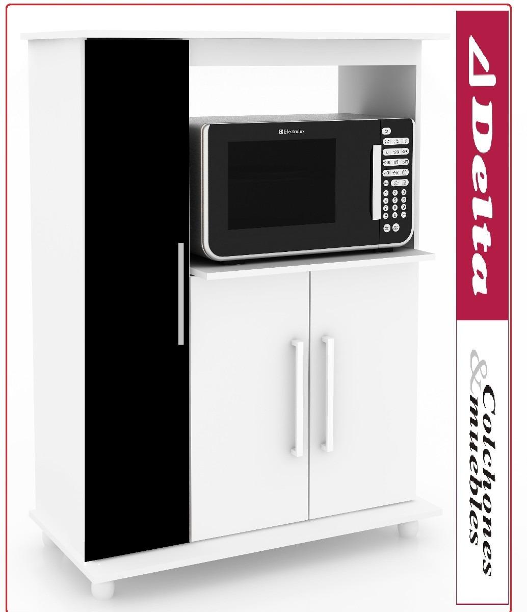 Mueble Para Microondas Alacena Kit De Cocina Equipamiento  # Muebles Microondas
