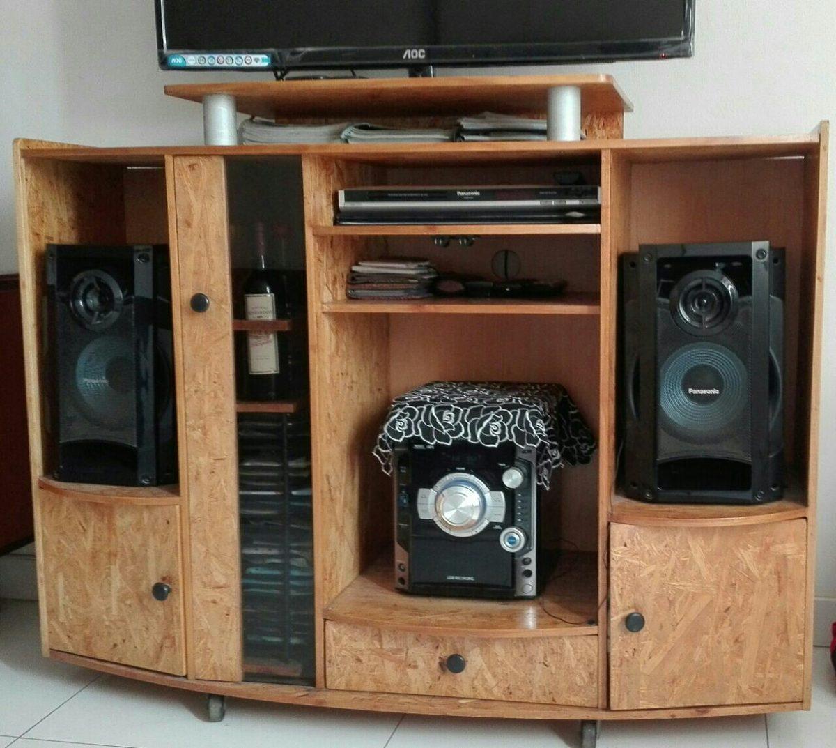 Mueble para tv equipo de sonido para sala s 350 00 en for Muebles para televisor y equipo de sonido