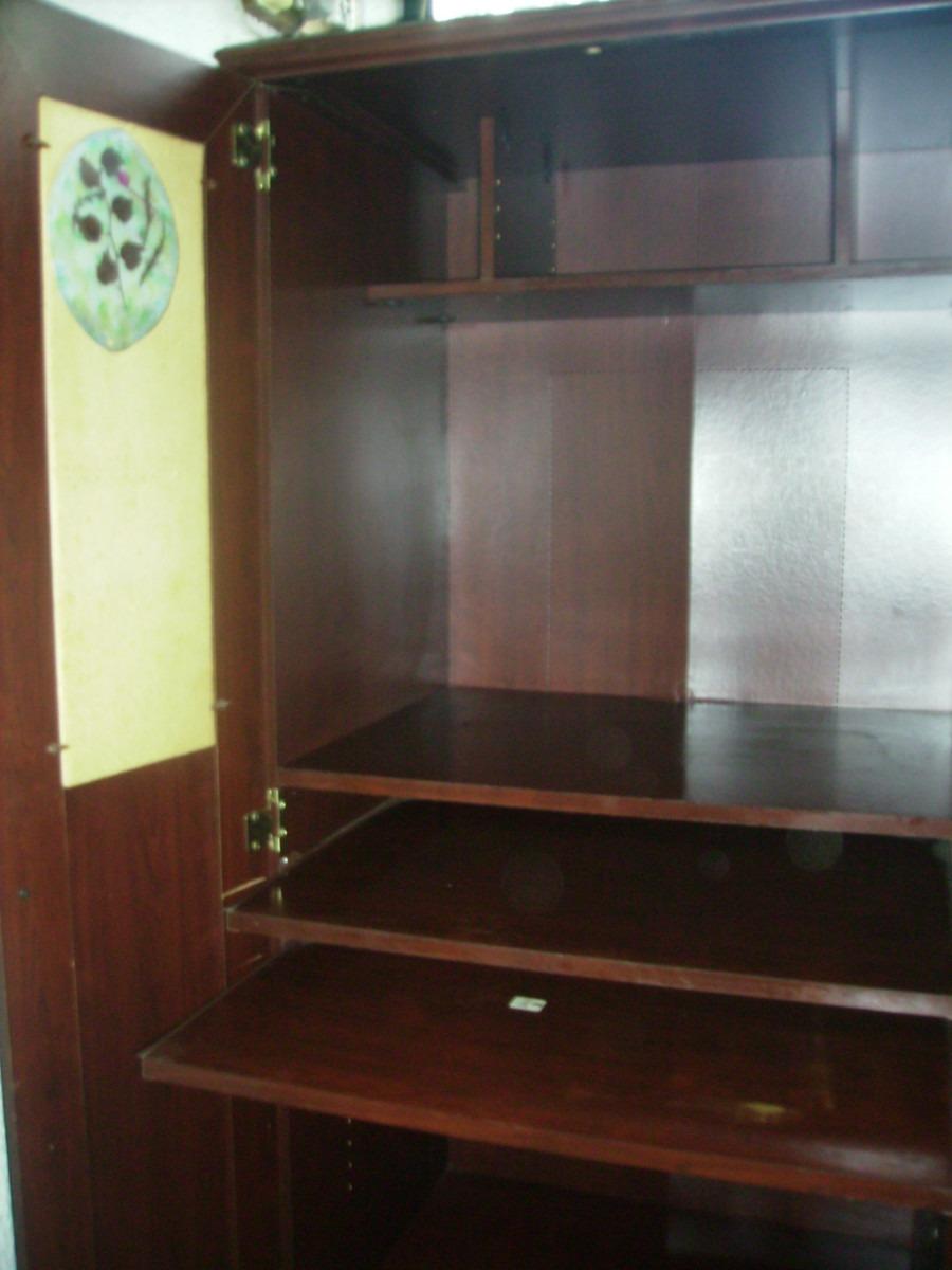 Mueble para pc sauder oscuro en mercado libre for Muebles para pc