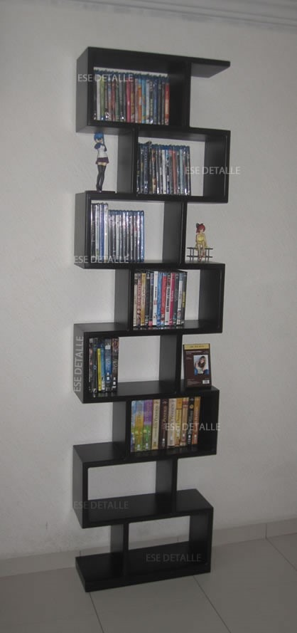 Mueble para pel culas cd s o libros peque os 3 for Mueble de pared industrial