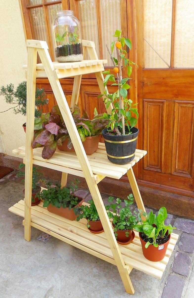 Mueble para plantas huerto urbano en mercado libre for Estanteria plantas interior