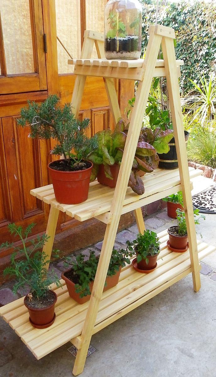 Mueble para plantas huerto urbano en mercado libre for Muebles para plantas