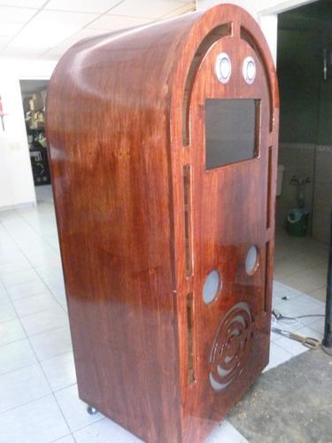 mueble para rockola aparencia de  antigua en natural