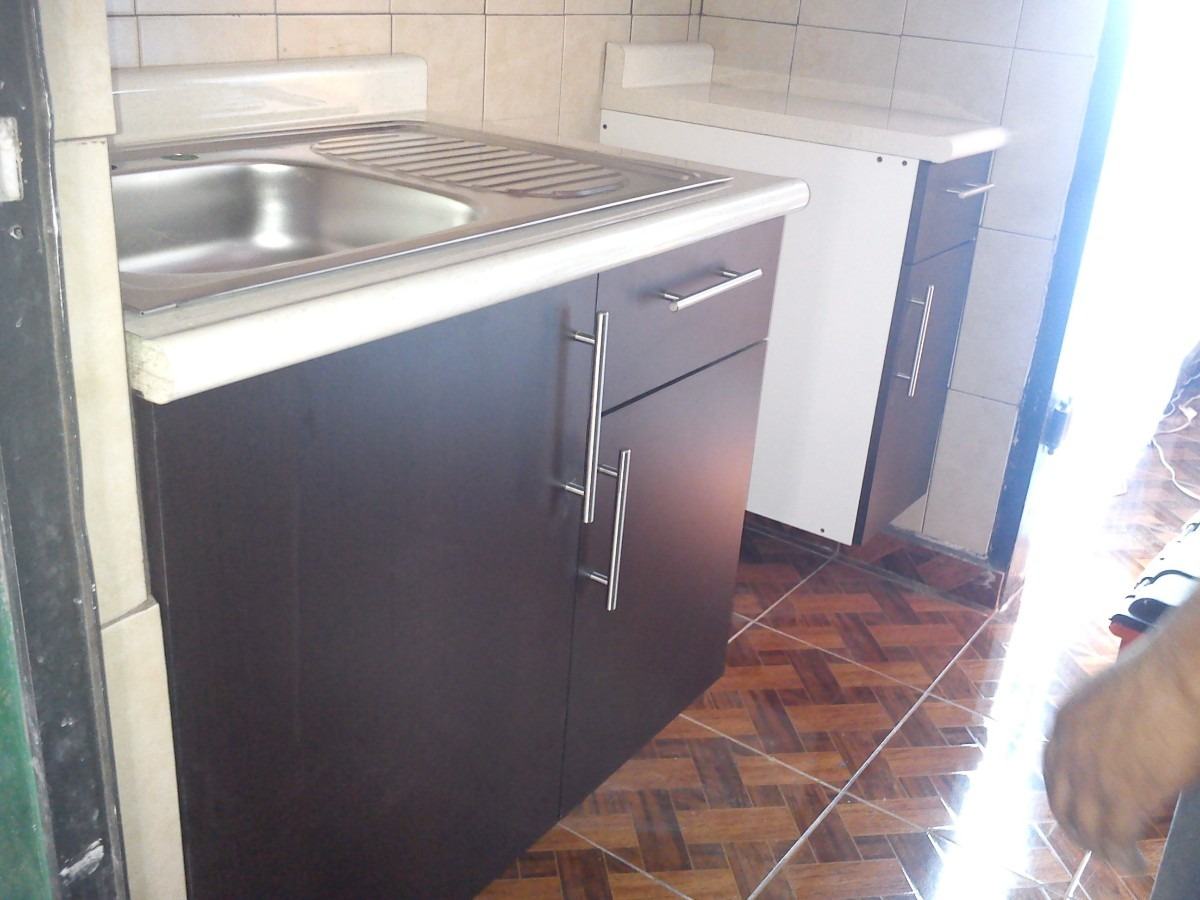 Mueble para fregadero con tarja para cocina integral vv4 for Mueble pared cocina