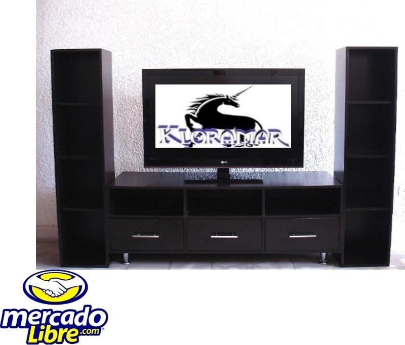 Mueble para television plasma 3b comoda librero sala for Muebles para sala de tv
