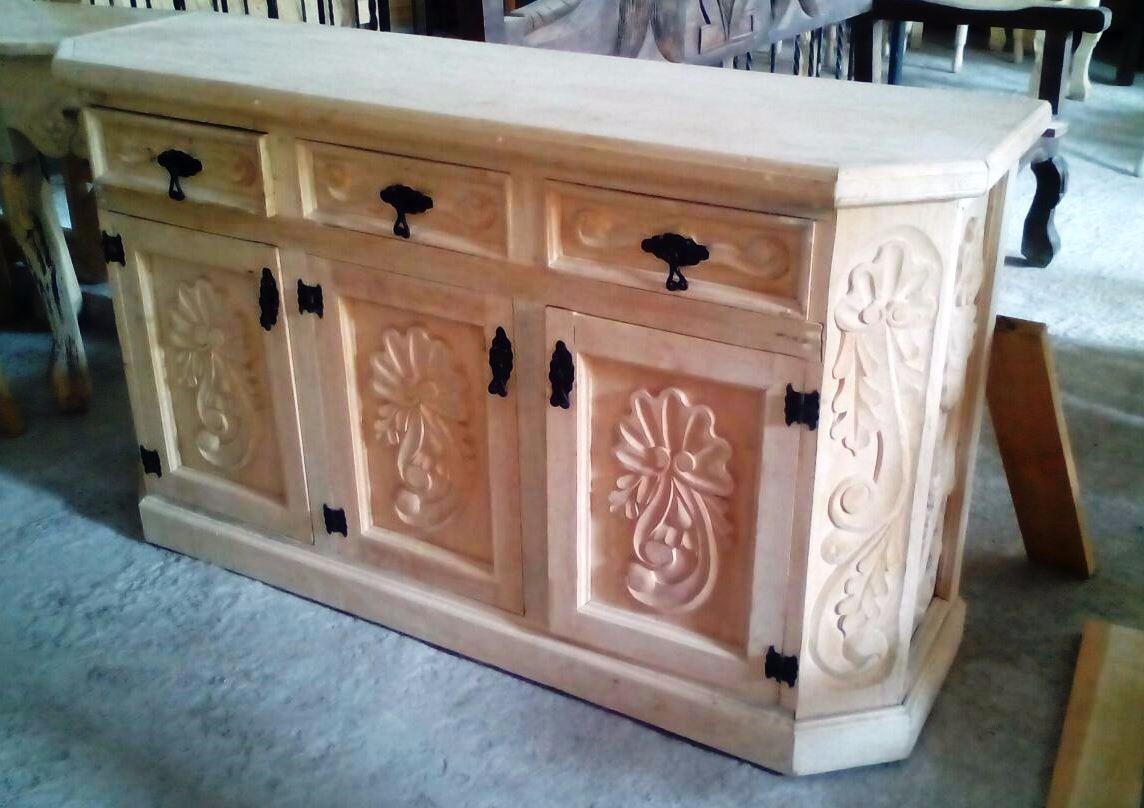 Mueble Para Televisi N Vintage Tallado Acabado Al Gusto  # Muebles Codigo Abierto