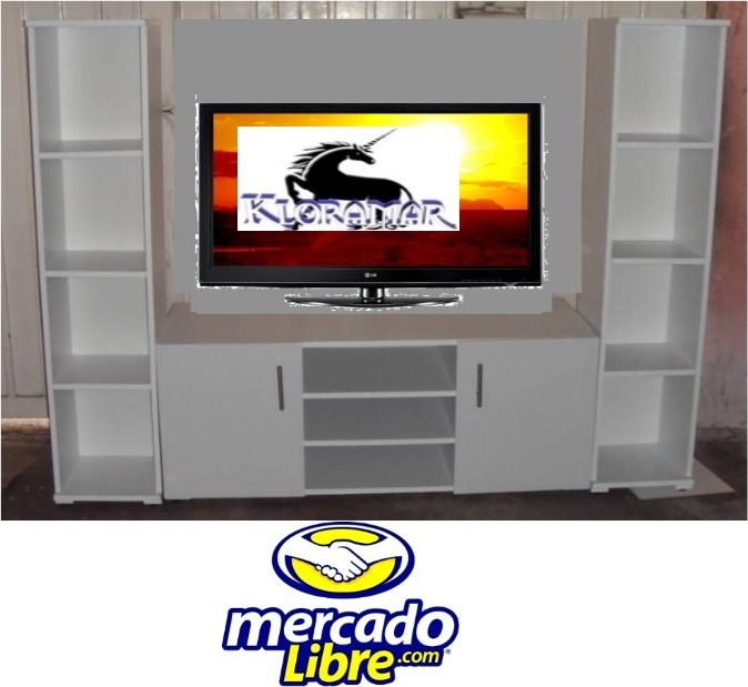 Mueble para television will plasma 3d comoda librero - Mueble tv plasma ...