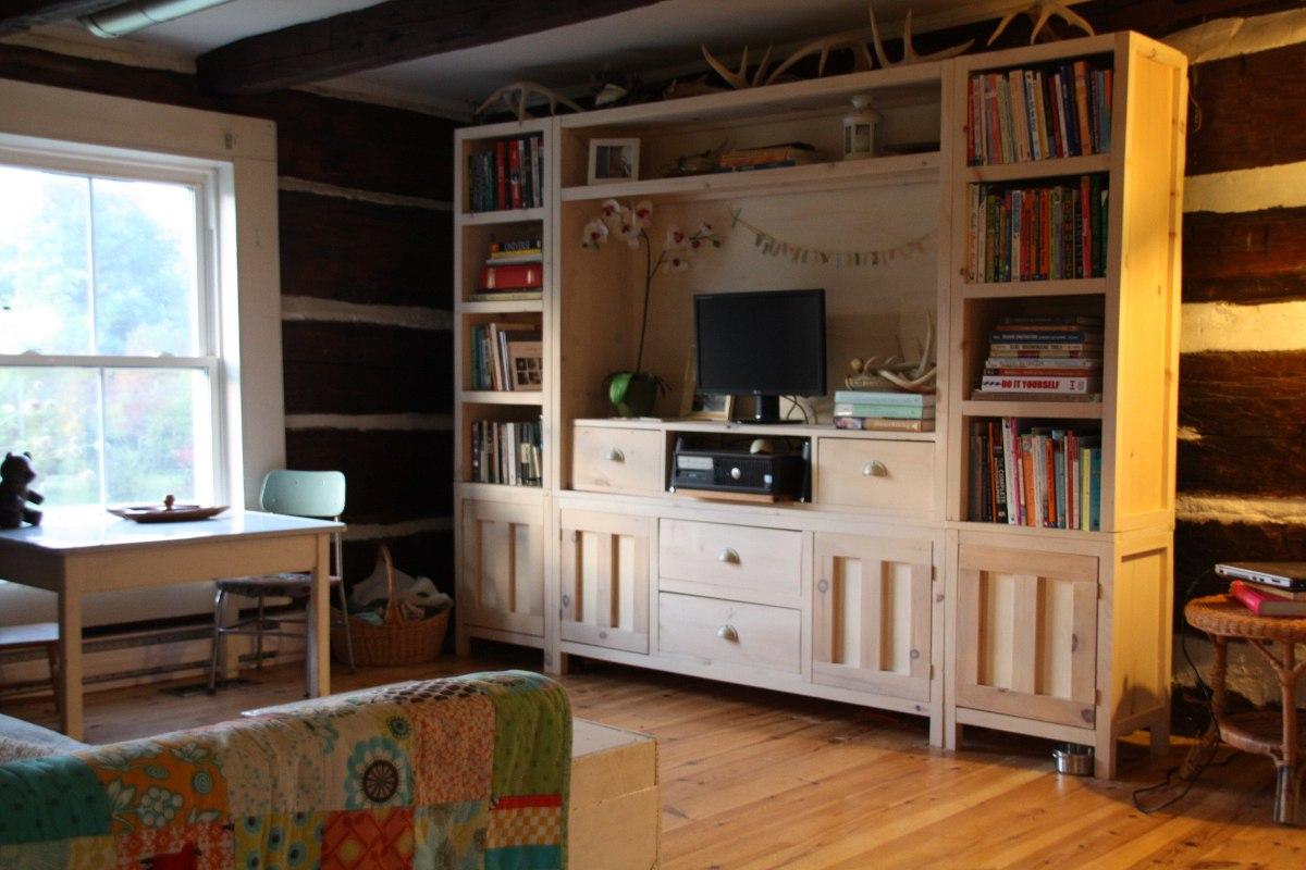 Mueble Para Televisor Led Lcd Living 36 707 94 En Mercado Libre # Muebles Bibliotecas Para Living