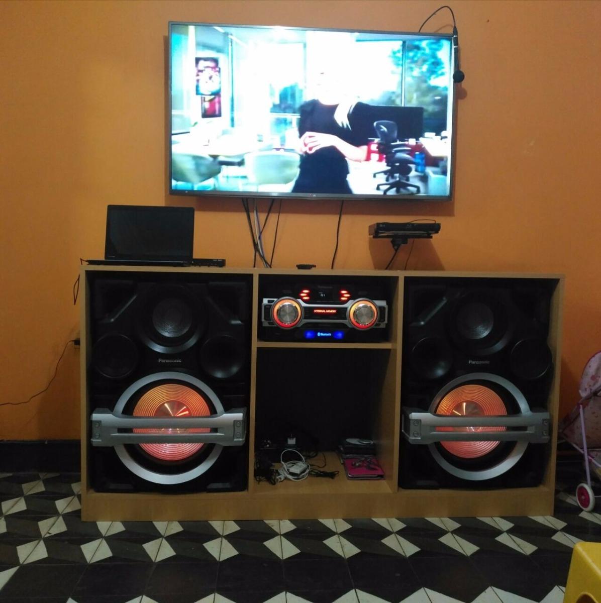 Mueble para tv 60 equipos de sonido y parlantes grandes for Muebles para televisor y equipo de sonido
