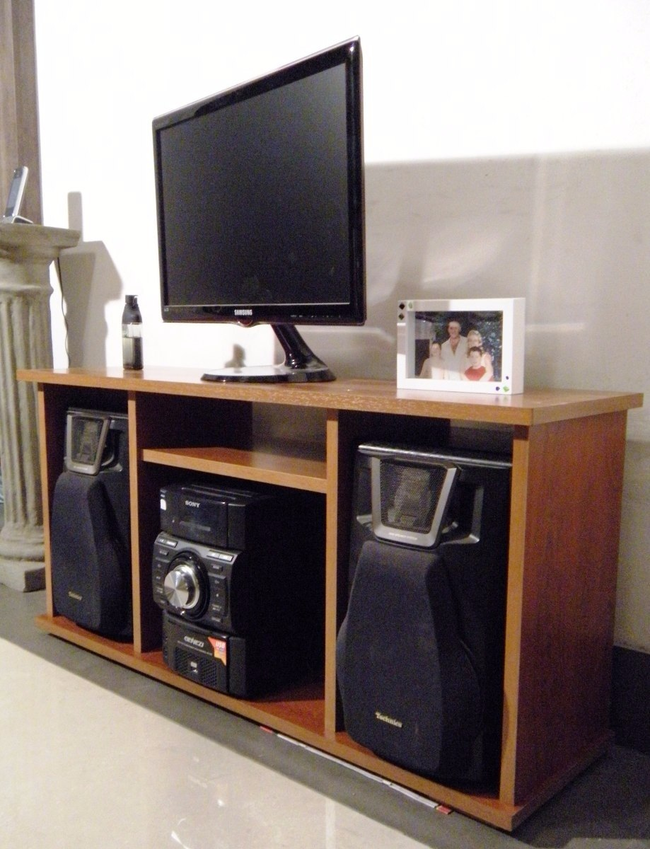 Mueble para tv 60 pulgadas y equipos de sonido s 450 00 for Muebles para televisor y equipo de sonido