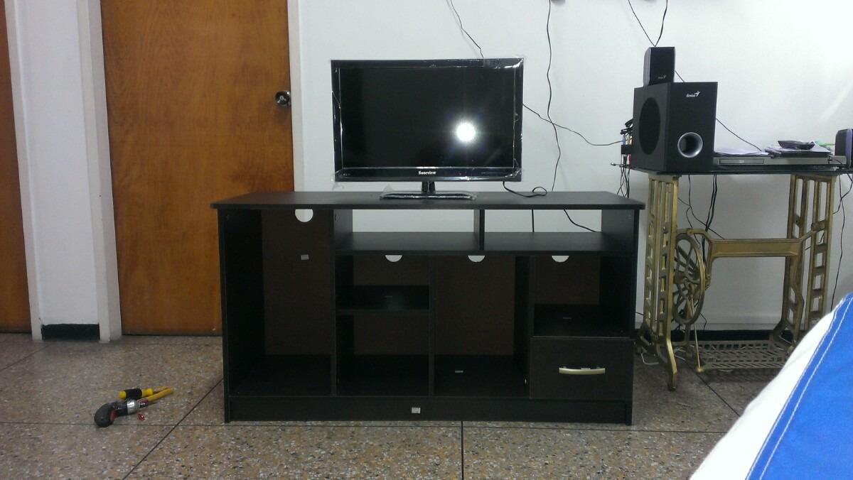 Mueble para tv color wengue listo para armar bs - Como hacer un mueble para tv ...