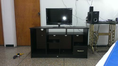 Mueble para tv color wengue listo para armar bs - Muebles para equipos de sonido ...
