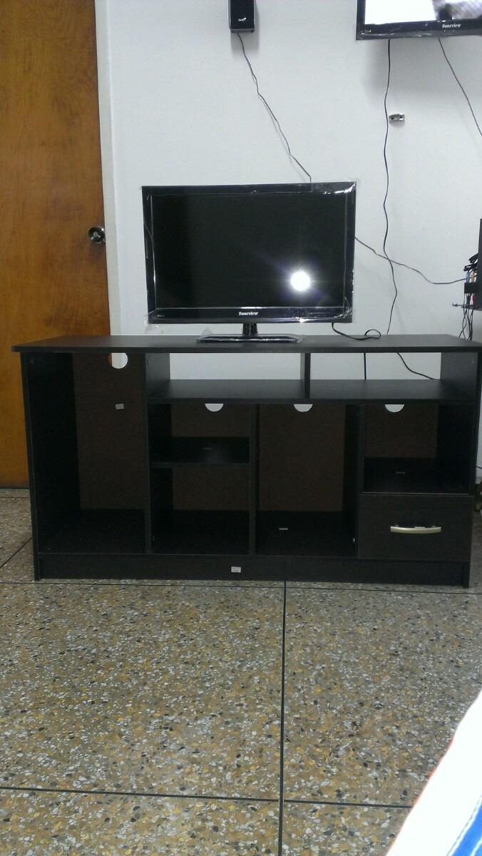 Mueble para tv color wengue listo para armar bs for Muebles melamina para armar