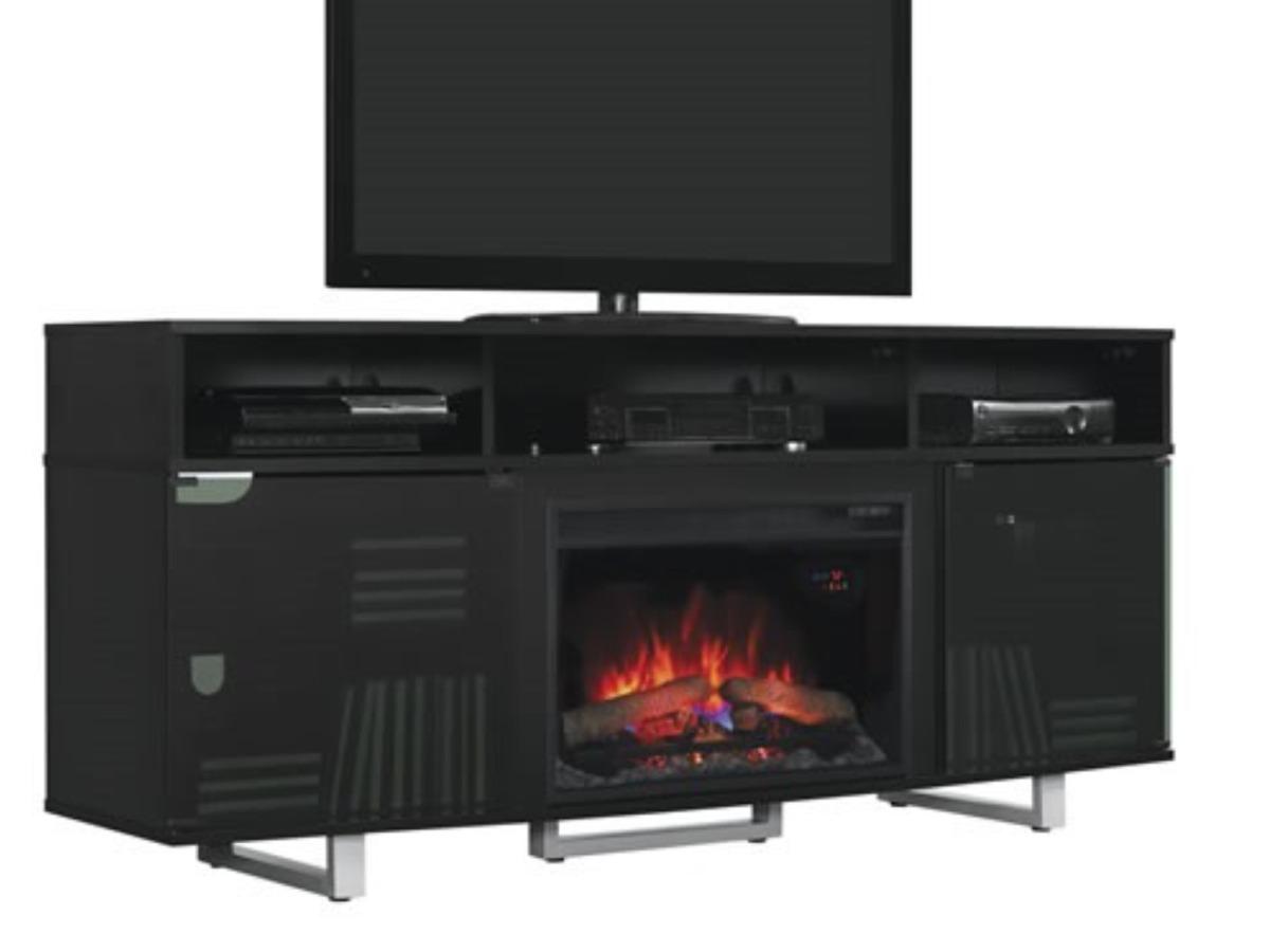 Mueble para tv con chimenea el ctrica 7 en mercado libre - Chimenea electrica mueble ...