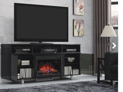 Mueble para tv con chimenea el ctrica 7 en mercado libre - Chimeneas con television ...