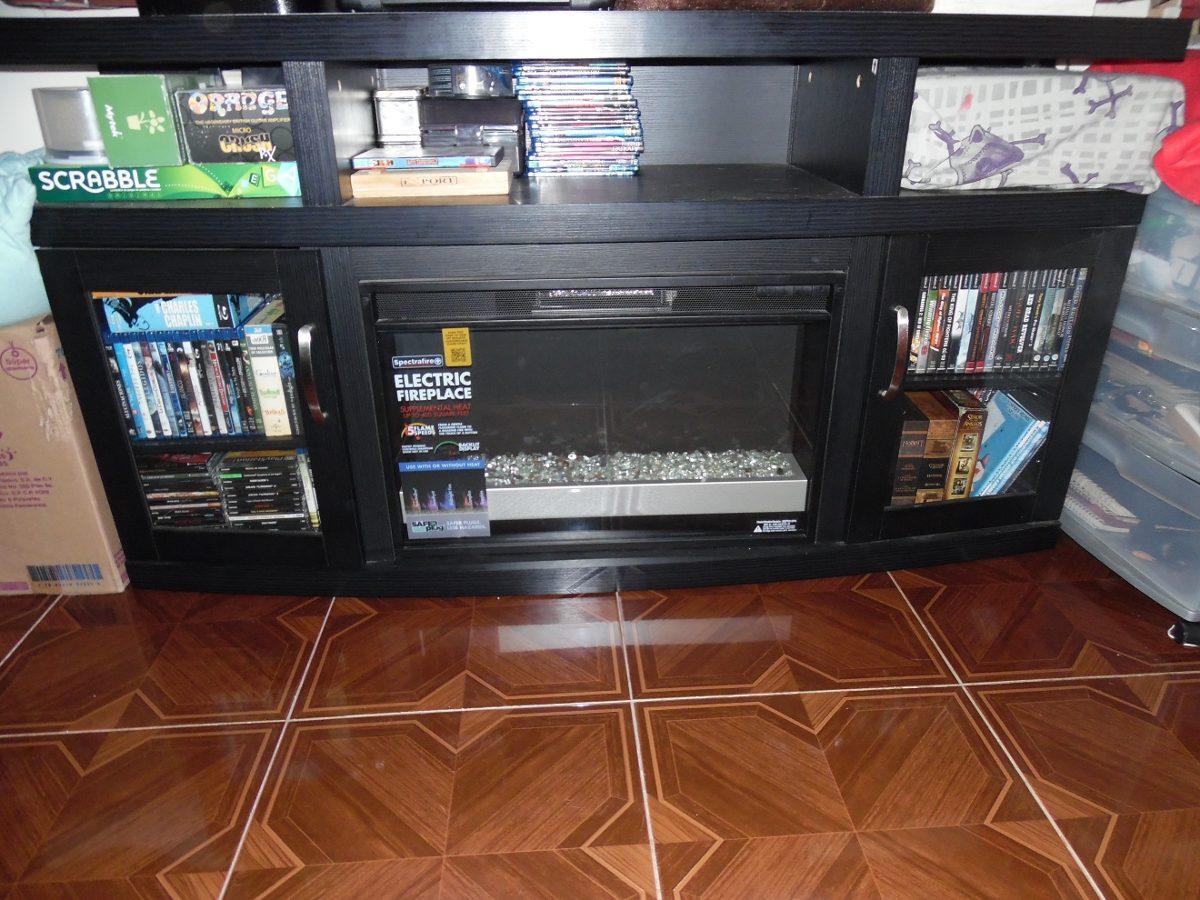 Mueble para tv con chimenea el ctrica 11 en mercado libre - Chimenea electrica mueble ...