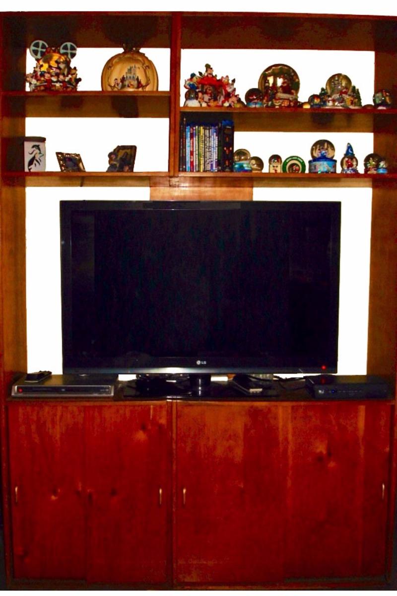 Mueble Para Tv Con Repisas Y Gabinetes Organizador En Madera - Bs ...