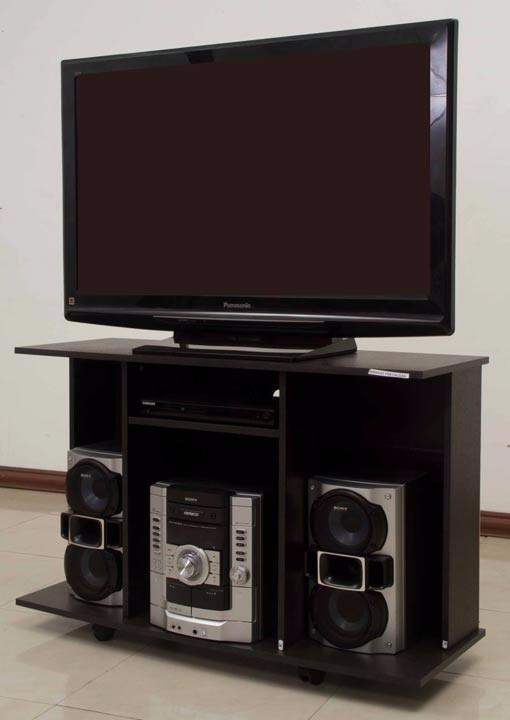 Mueble para tv con ruedas nuevo 106 x 70 x 40 maderkit for Muebles para tv con ruedas