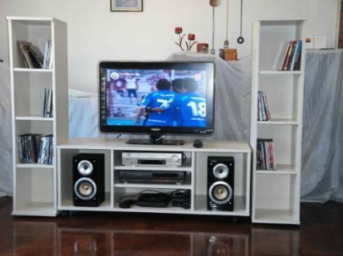 Mueble para tv de 60 pulgadas y equipos de sonido s 600 - Muebles para equipo de sonido ...