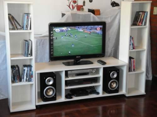 Mueble para tv de 60 pulgadas y equipos de sonido s 600 for Mueble para lcd 50 pulgadas