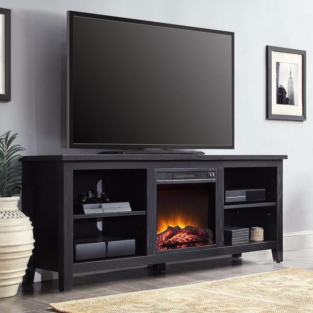 Mueble para tv de hasta 70pulg con chimenea el ctrica for Muebles de salon con chimenea
