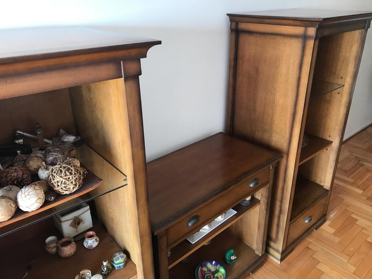Mueble Para Tv De Tres Módulos Enchapado En Madera De Cerezo ...
