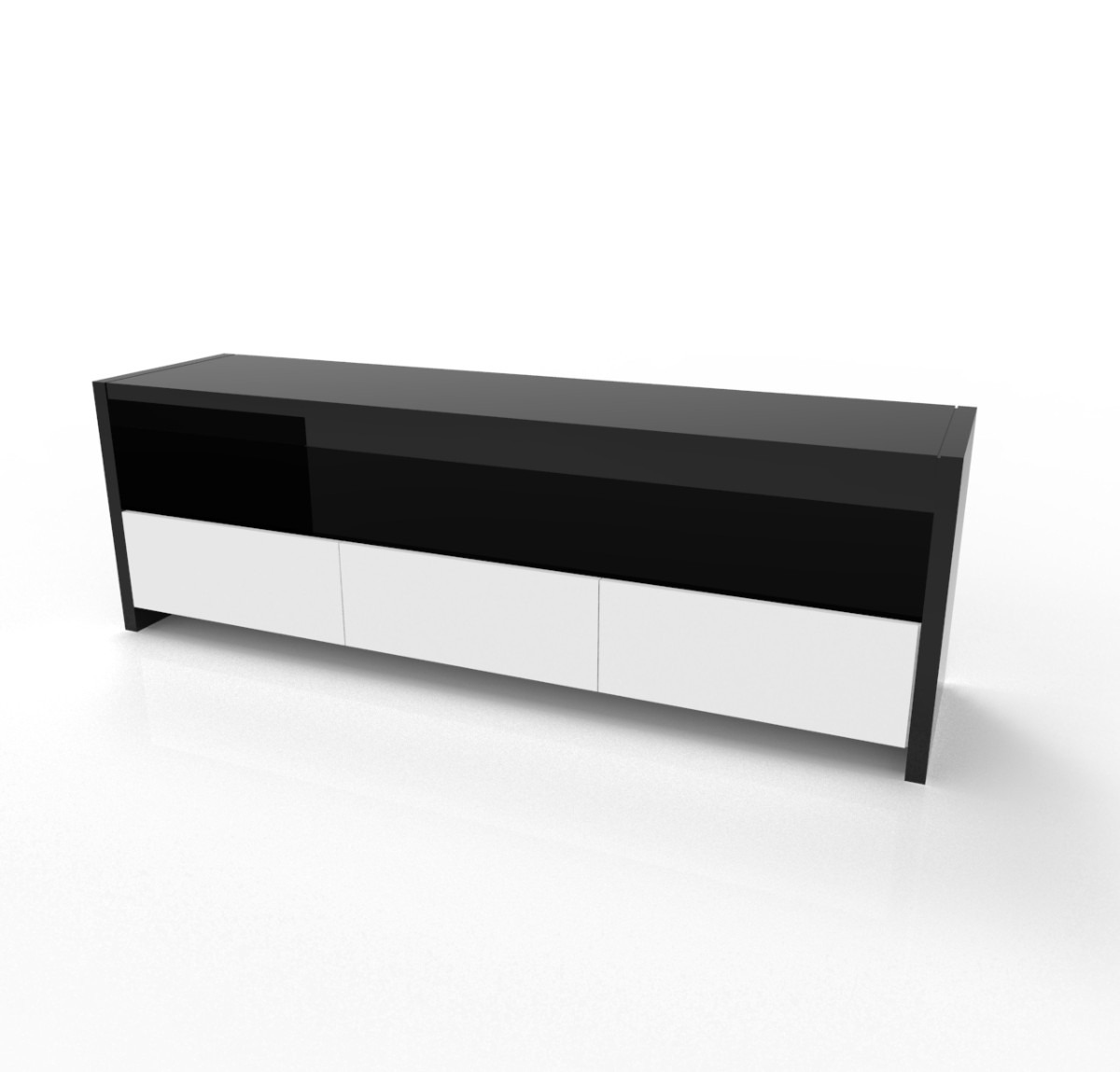Mueble para tv dise o moderno minimalista en for Mueble minimalista