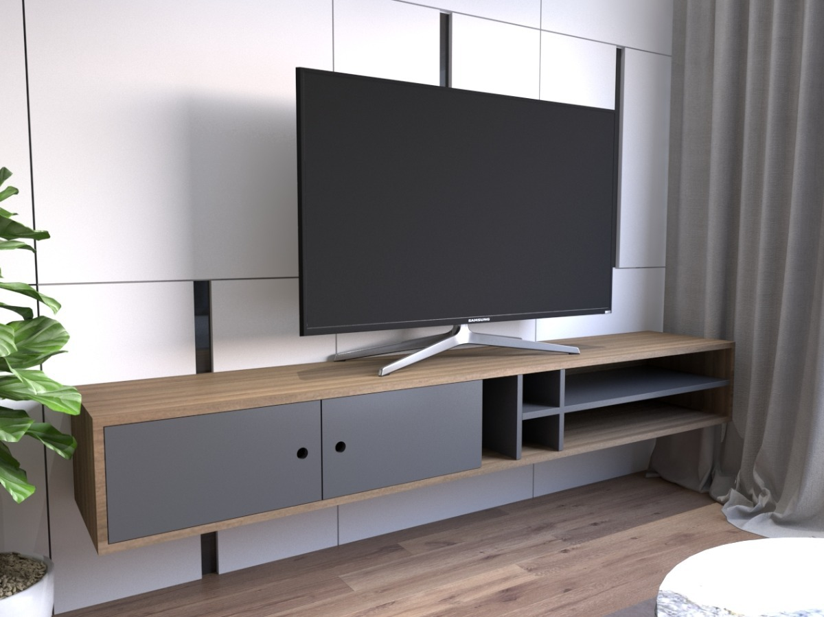 Muebles suspendidos para tv obtenga ideas dise o de for Muebles para sala de tv
