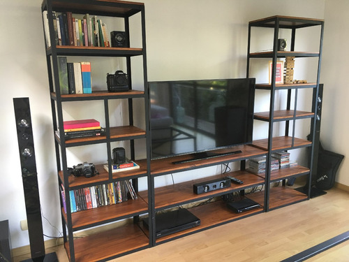 Mueble para la tele panel lcd led smart modulares modelo for Mueble tv industrial