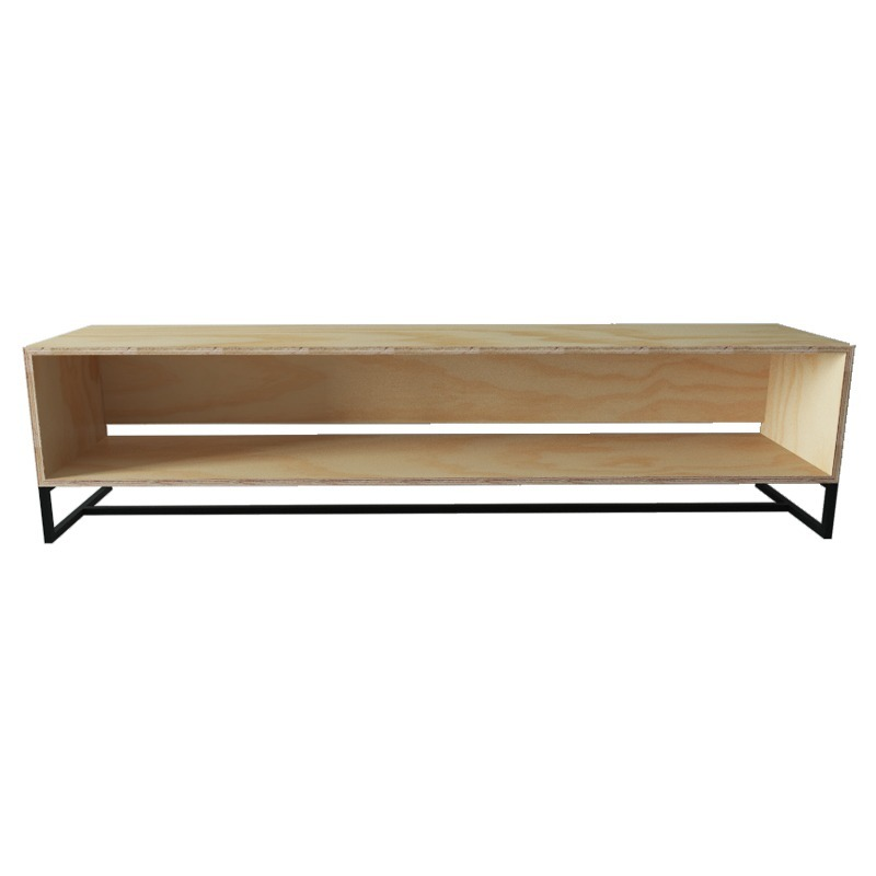 Mueble para tv industrial moderno de triplay de madera for Mueble para tv moderno