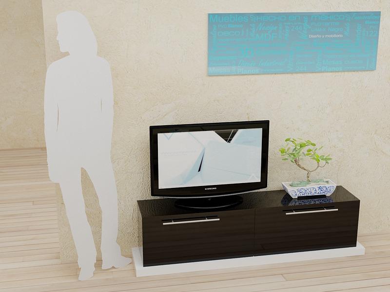 Mueble para tv modelo 1 de dise o nesign 4 en for Modelos de muebles para televisor