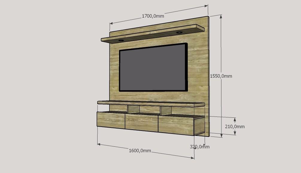 Mueble para tv moderno ref spretto en mercado for Muebles de tv modernos precios