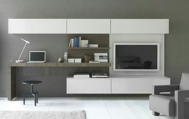 Mueble Para Tv Modular Con Escritorio Mdf Y Formica