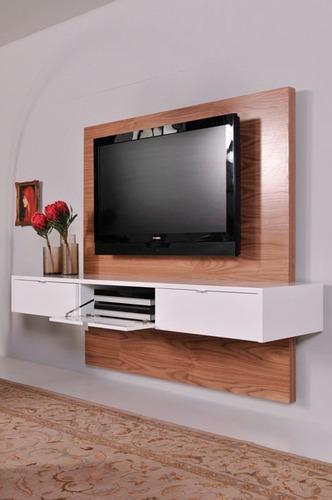 mueble para tv  panel ocultar cables flotantes ref: turpalia