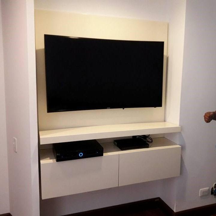 Mueble Para Tv Ref Mural18 150 Cm Panel Para Ocultar Cables