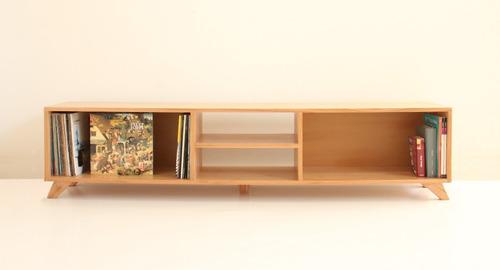 Mueble para tv vinilos equipo audio madera paraiso for Muebles el paraiso