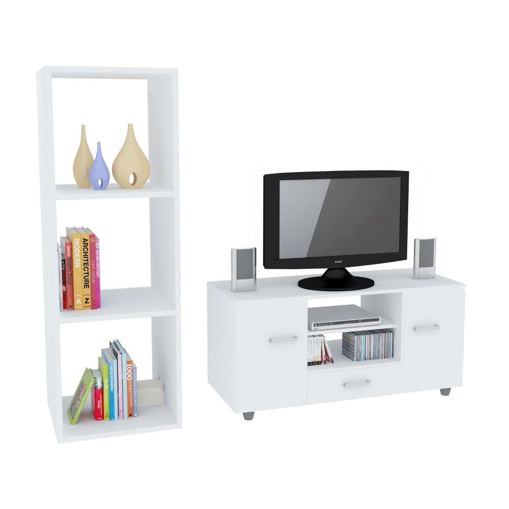 mueble para tv y cubo organizador de 3 niveles blanco. Cargando zoom. a091f86ab08f