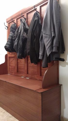 mueble perchero de madera - recibidores