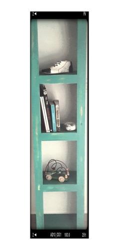 mueble pino biblioteca vintage color a eleccion