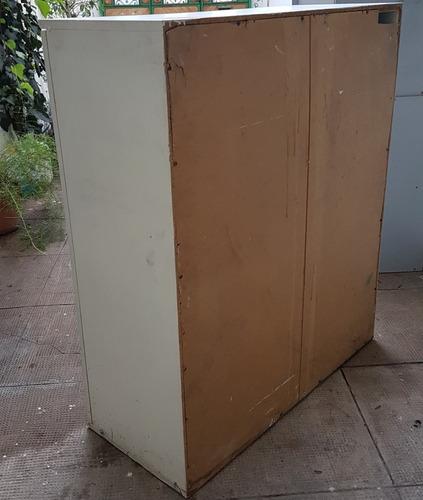 mueble placard 94x40x110 madera blanca 3 estantes ropa archi
