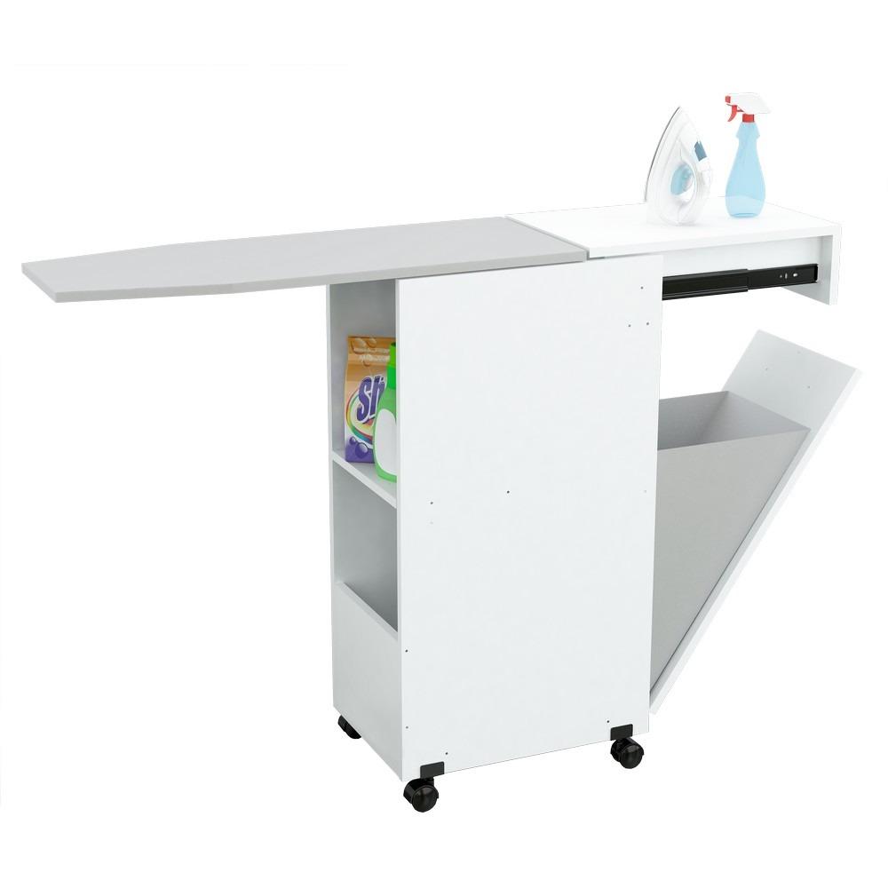 Mueble Planchador Organizador De Planchado Rebatible Blanco ...