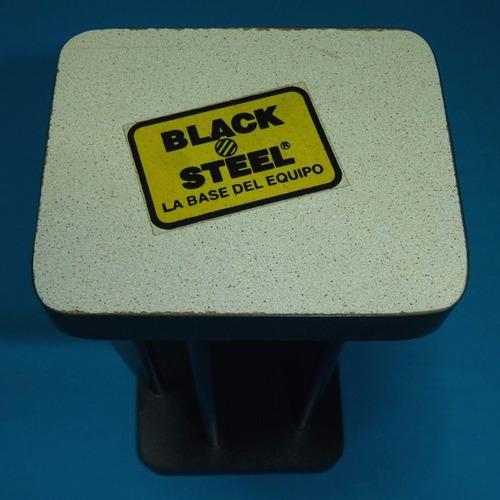 mueble porta cd dvd black steel pequeño para sala dormitorio