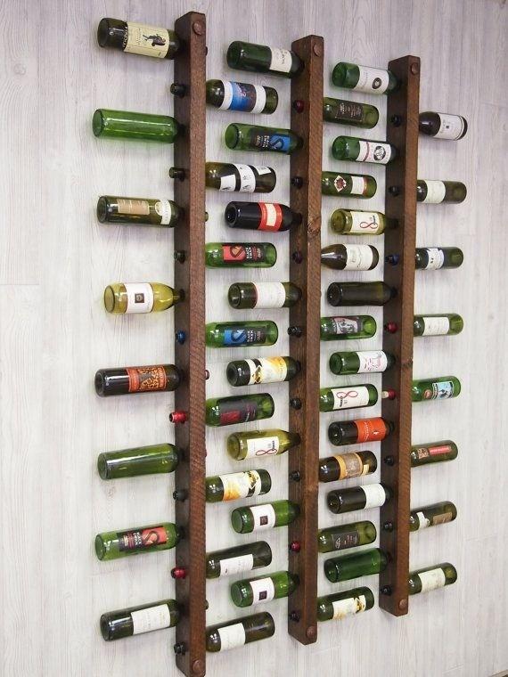 Mueble Cava De Madera Para Pared 1u Porta Vino  Nor Moveis  $ 15000