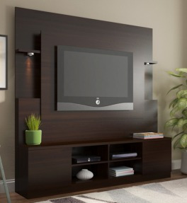 mueble rack home atenas tabaco tv 32  a 60  - ikean