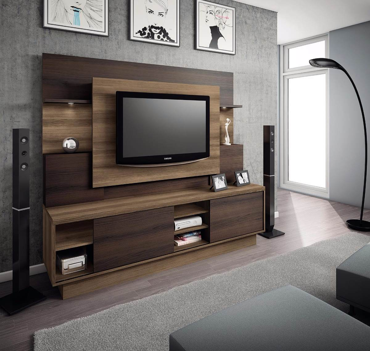 mueble rack home roma tv 42 a 55 ikean en mercado libre. Black Bedroom Furniture Sets. Home Design Ideas
