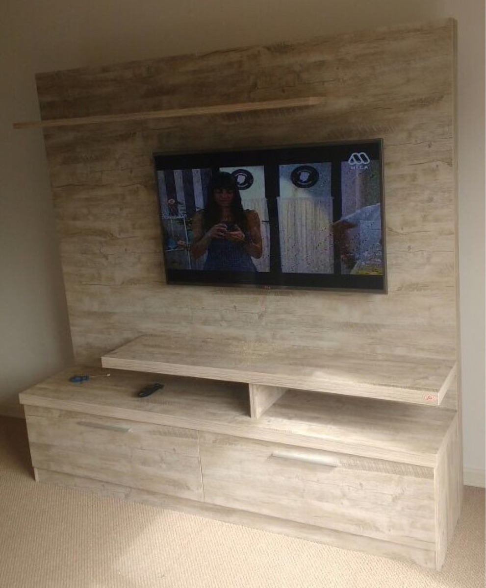 Mueble rack home siena tv 42 a 60 ikean en for Mueble rack