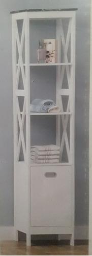 mueble rack organizador vintage mediterráneo