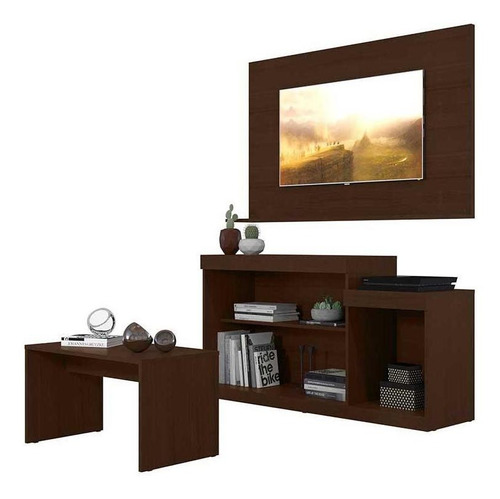mueble rack panel para pantalla mesa centro combo 2586.0002