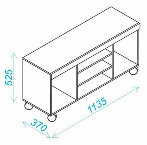 mueble rack para pantalla 42 pulgadas br 250-164 castaño